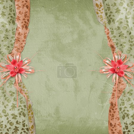 Cover for album with bow and orchid