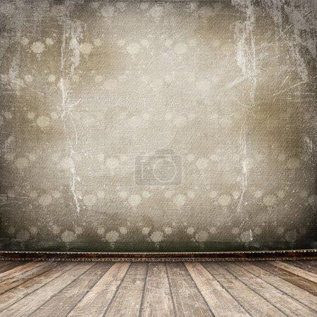 Photo pour Vieille chambre, intérieur industrielle grunge, surface usée - image libre de droit