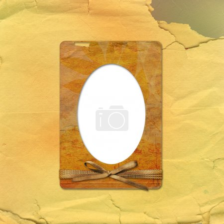 Old grunge frames on the abstract paper background