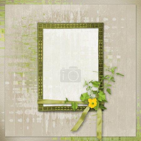Card for invitation or congratulation in scrapbooking style desi