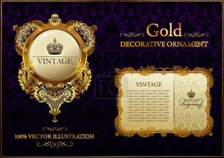 Gold vitnage decorative ornament