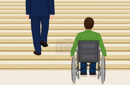 Helpless in a wheelchair