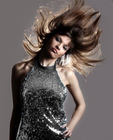 Glamour stylish beautiful woman