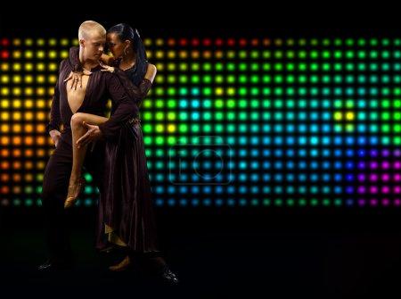 Photo pour Couple de Tango danse - image libre de droit