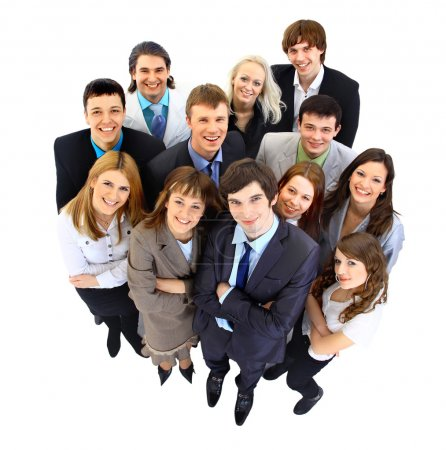 Photo for Large group of business . Over white background - Royalty Free Image