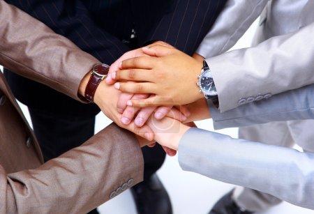 Photo pour Poignée de main et travail d'équipe - image libre de droit