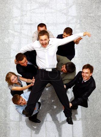 Photo pour Businessteam isolé sur fond blanc - image libre de droit