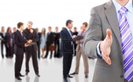 Photo pour Poignée de main et équipe - image libre de droit