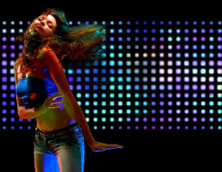 Photo for Portrait of a beautiful dancing girl - Royalty Free Image