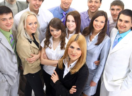 Visionary young business group - Mature business man with his colleagues in