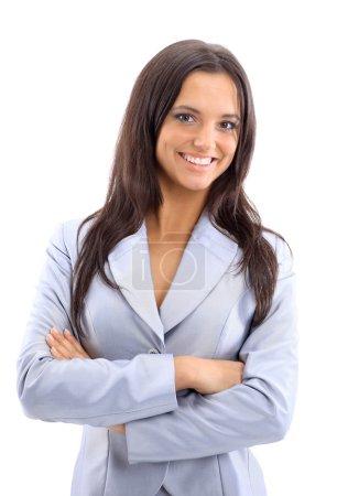 Photo pour Jeune femme d'affaires, isolée sur blanc - image libre de droit