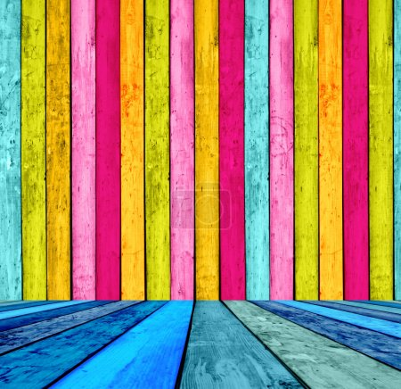 Multicolored Wood Background