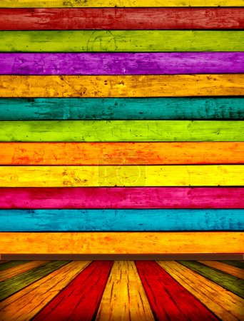 Photo for A multicolored wood background. Please visit my portfolio for more. - Royalty Free Image