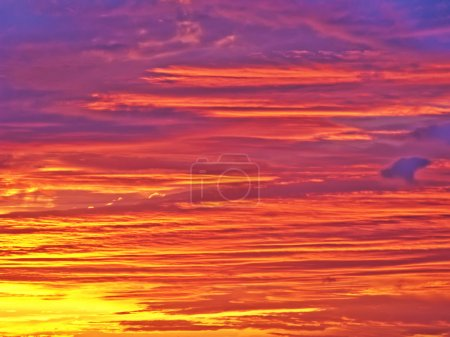 Photo for An amazing sunset with pink and purple clouds - Royalty Free Image