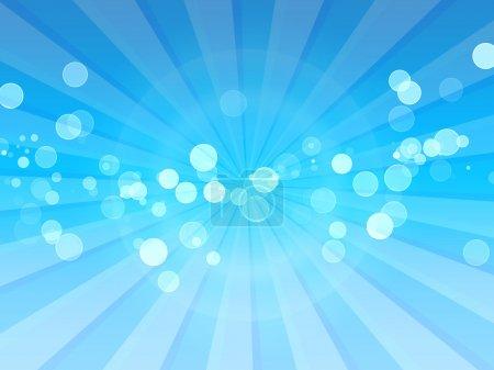 Photo pour Taches de lumière solaire sur les rayons bleus - utile comme arrière-plan pour la conception de flyers, web design, couvertures de cd, etc. . - image libre de droit