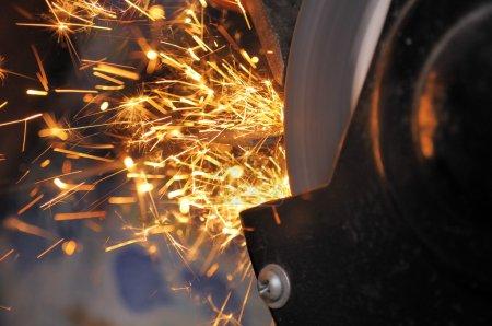Sparks from Grinder