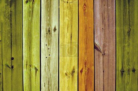 Multicoloured Wooden Planks