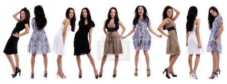 Photo pour Toute la longueur d'une belle jeune femme en robe - image libre de droit