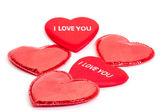 Mnoho červené srdce