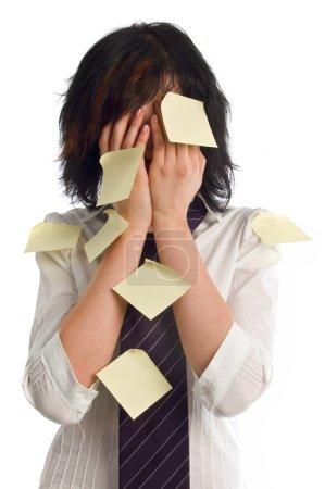 Overworking business women