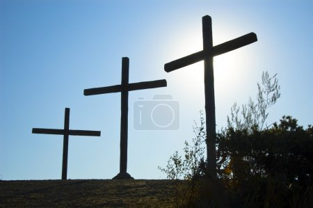 Cross Silhouette against Sky