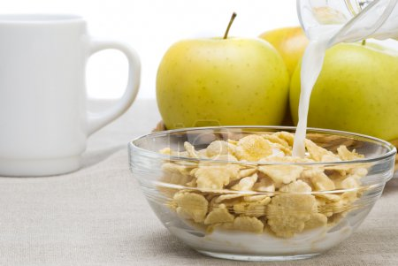 Photo for Cornflakes breakfast - Royalty Free Image