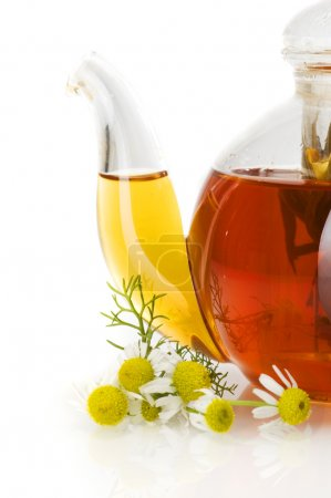 Camomile and teapot