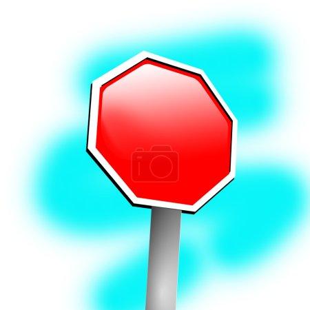 Photo pour Cadre de signe vierge sur fond bleu - image libre de droit