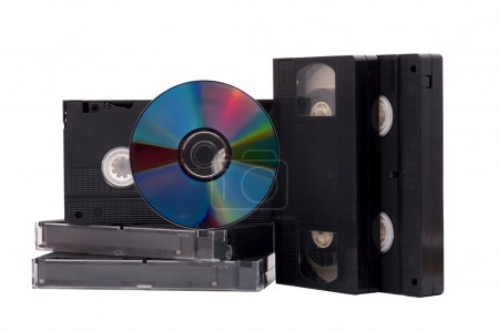 DVD disk and VHS tapes
