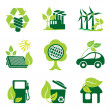 Set of vector icons of environment protection and ...