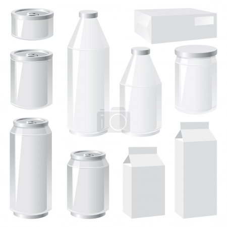 Illustration for Set of vector images of packing containers - Royalty Free Image