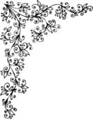 Baroque vignette 92 Eau-forte black-and-white pattern decorative vector illustration EPS-8