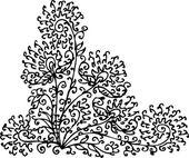 Refined Floral vignette 79 Eau-forte decorative vector illustration