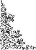 Refined floral vignette 95 Eau-forte black-and-white swirl decorative vector illustration