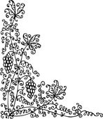 Refined floral vignette 96 Eau-forte black-and-white swirl decorative vector illustration