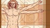 The Vitruvian man (Fragment)