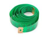 Zelená měřící páska