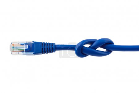 Internet cable with knot