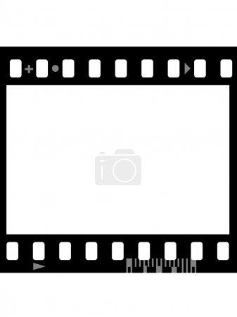 Photo pour Cadre de film photographique (sans soudure) isolé sur fond blanc - image libre de droit