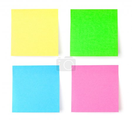 Multicolored postit note paper