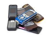 Heap of mobile phones