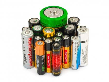 Photo pour Groupe de batteries isolé sur fond blanc - image libre de droit