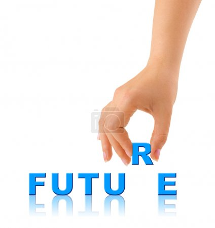 Hand and word Future