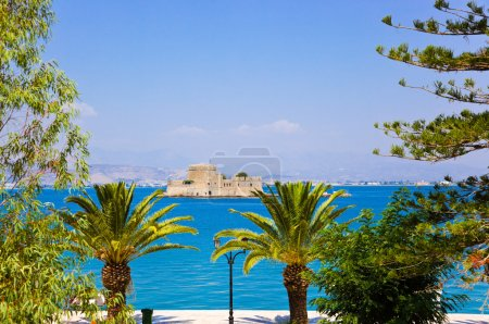 Bourtzi castle island in Nafplion, Greece