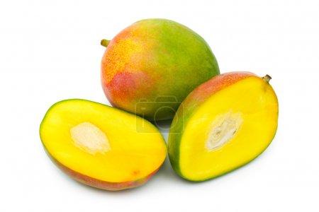Photo for Fruit mango isolated on white background - Royalty Free Image