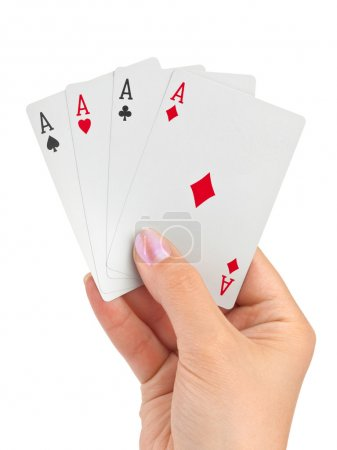 Hand with four aces