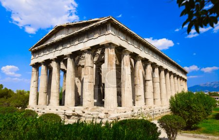 Photo for Ancient Agora at Athens, Greece - travel background - Royalty Free Image