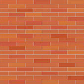 Traditional red brick wall seamless vector texture