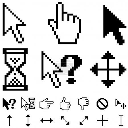 Standard pixel cursors