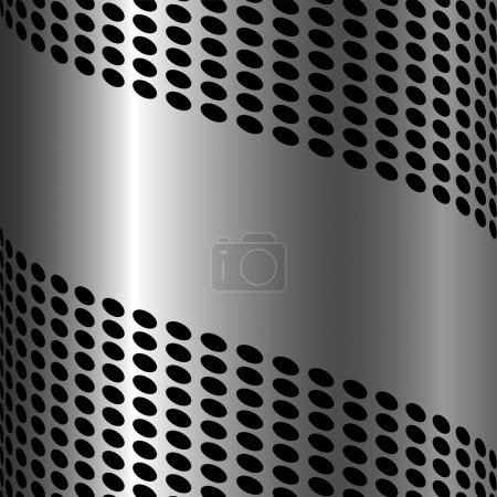 Illustration for Abstract metallic background with circle pattern and copy space. - Royalty Free Image